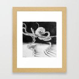 playful octopus  Framed Art Print