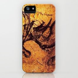 Fighting Rhinos // Chauvet Cave iPhone Case