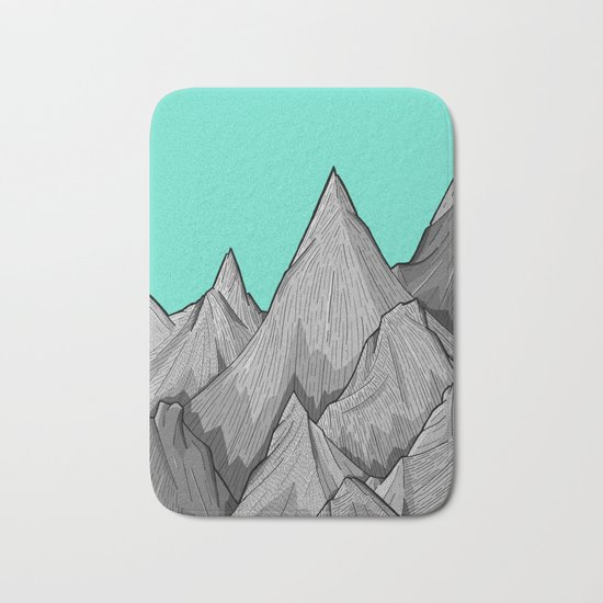 The Green Sky Over The Mountains Bath Mat