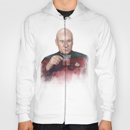 Captain Picard Earl Grey Tea | Star Trek Painting Hoody