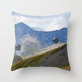 Austria ski lifts Throw Pillow