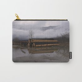 Timber Logs With A Foggy Mountain View Carry-All Pouch