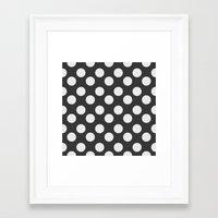 polka dots Framed Art Prints featuring Polka Dots by NobuDesign
