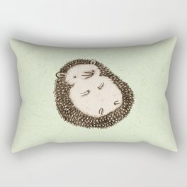 Plump Hedgehog Rectangular Pillow