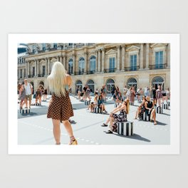 Pixelated Present Moment Art Print