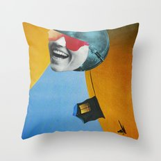 Collapsed Head Throw Pillow