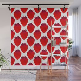 Low poly strawberries Wall Mural