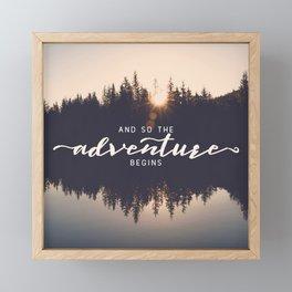 And So the Adventure Begins II Framed Mini Art Print