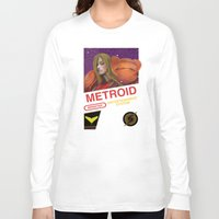 metroid Long Sleeve T-shirts featuring NES Metroid  by IF ONLY