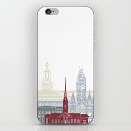 Harvard skyline poster iPhone Skin