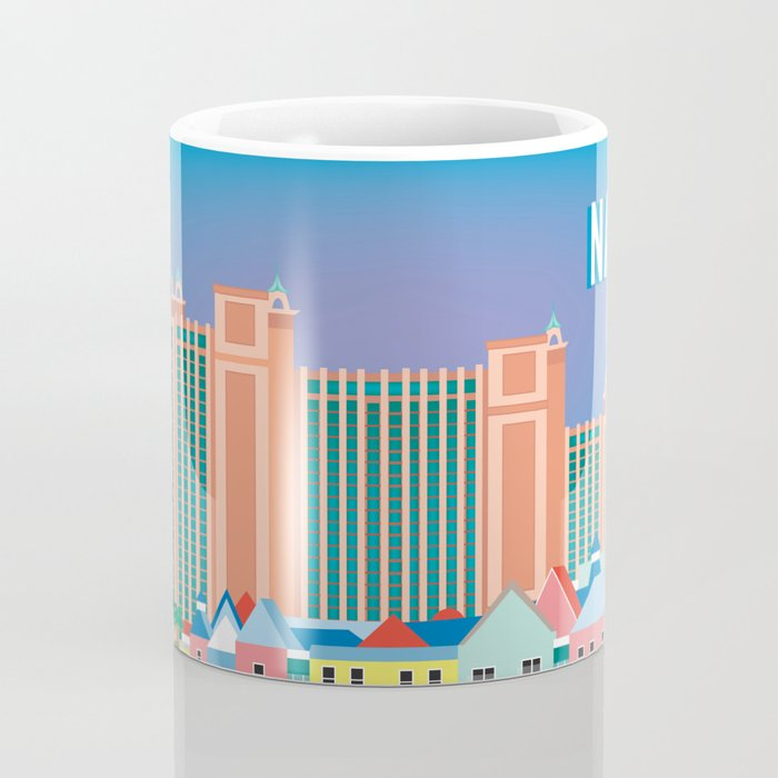 Nassau, Bahamas - Skyline Illustration by Loose Petals Coffee Mug