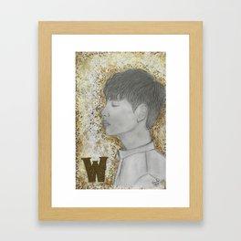 Kang Chul (Lee Jong-Suk) -kdrama W Framed Art Print