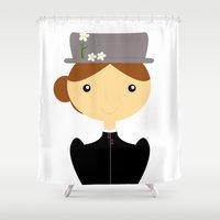 mary poppins Shower Curtains featuring Mary Poppins by Creo tu mundo