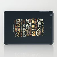 risa rodil iPad Cases featuring Don't Be Afraid To Suck by Risa Rodil
