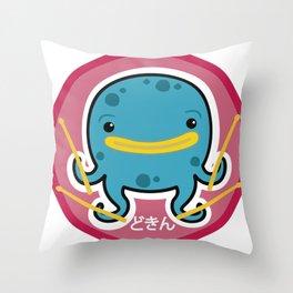 Octodrummer Throw Pillow