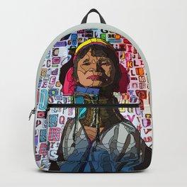 Kayan - illustration, typography, drawing Backpack