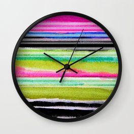 bohemian abstract painting Wall Clock