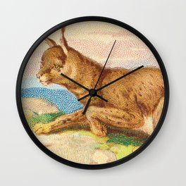 Lynx from the Quadrupeds series for A&G 1890 // Colorful Animal Painting Detailed Dots Wall Clock