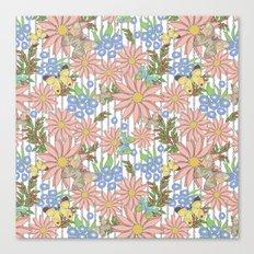 cute floral pattern Canvas Print