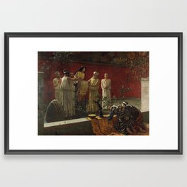 """The Oracle,"" Camillo Miola, 1880 Framed Art Print"