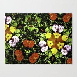 The Abstract Flower Garden Canvas Print