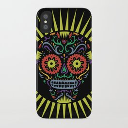 Sugar Skull SF multi -  black iPhone Case