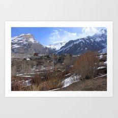 Himalayan Town Of Muktinath Art Print