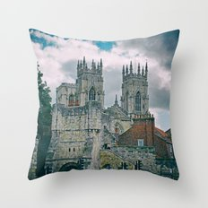 York Minster and Bootham Bar Throw Pillow