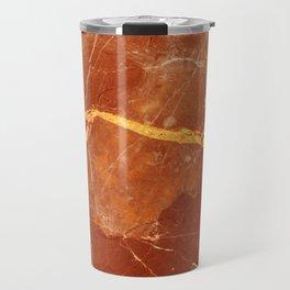 Red marble pattern Travel Mug