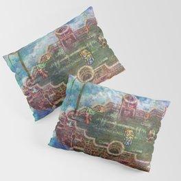 Final Fantasy VI Terra Branford Airship Impressionist Painting Pillow Sham