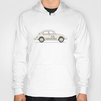 vw Hoodies featuring Famous Car #4 - VW Beetle by Florent Bodart / Speakerine