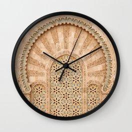 Door of Hassan II Mosque in Casablanca Morocco Wall Clock