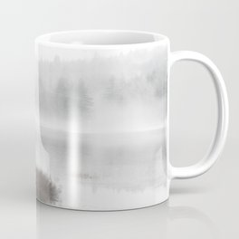 Foggy lake on a winter day - Nature Photography Coffee Mug