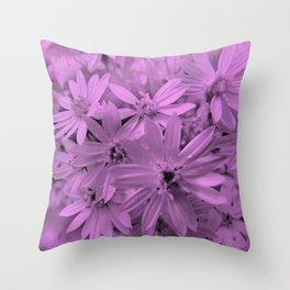 Pinky Purply Daisies! Throw Pillow