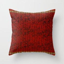 Orange Heart Stripes Throw Pillow