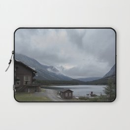 The View From Many Glacier Hotel Laptop Sleeve