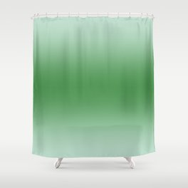 Pastel Green to Green Horizontal Bilinear Gradient Shower Curtain