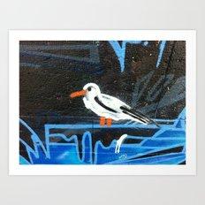 Angry Seagull Art Print