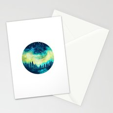 Aurora Borealis Circle Stationery Cards