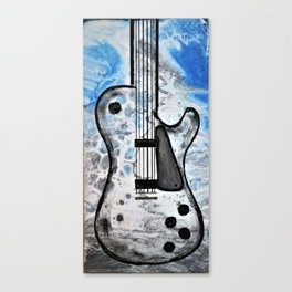 Guitar Art. Featured on back cover of The Music and Art of Black Cat Records. Canvas Print