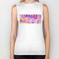 lavender Biker Tanks featuring Lavender by Lizzy Koury