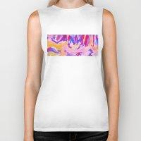 lavender Biker Tanks featuring Lavender by elikourY