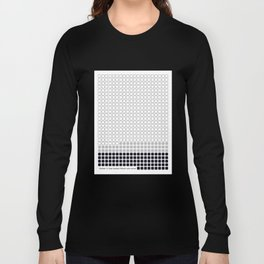 Number 14: Gray (Jackson Pollock) color-sorted Long Sleeve T-shirt