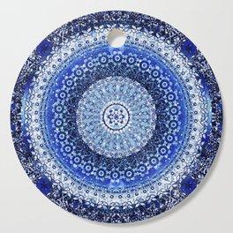 Cobalt Tapestry Mandala Cutting Board