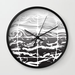 Black and White Earth Wind Wall Clock