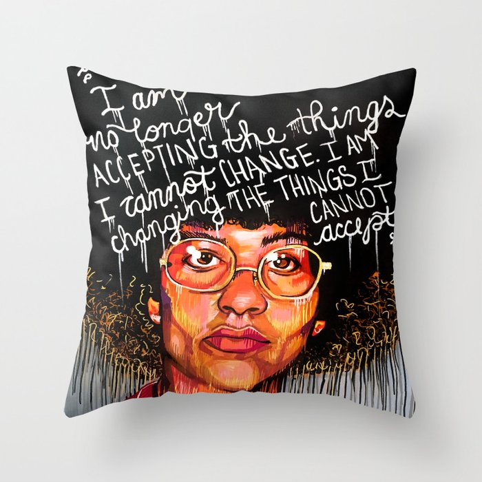 Ms. Davis Throw Pillow