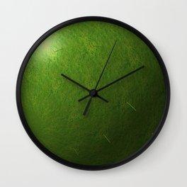 grass sphere Wall Clock