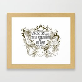Miss L's Cryptid Research Library and Tea Room Framed Art Print