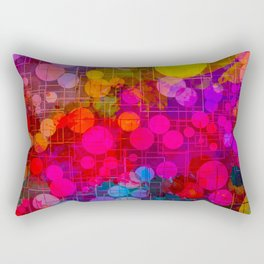 Rainbow Bubbles Abstract Design Rectangular Pillow