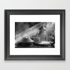 The Rice Noodles Maker   (m) Framed Art Print